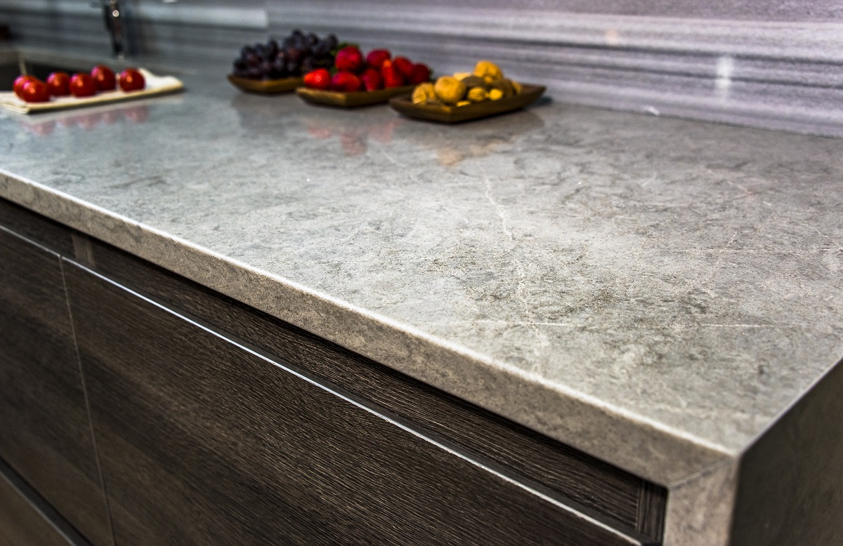 Kitchen countertop with fruits