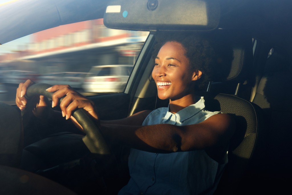 Woman driving