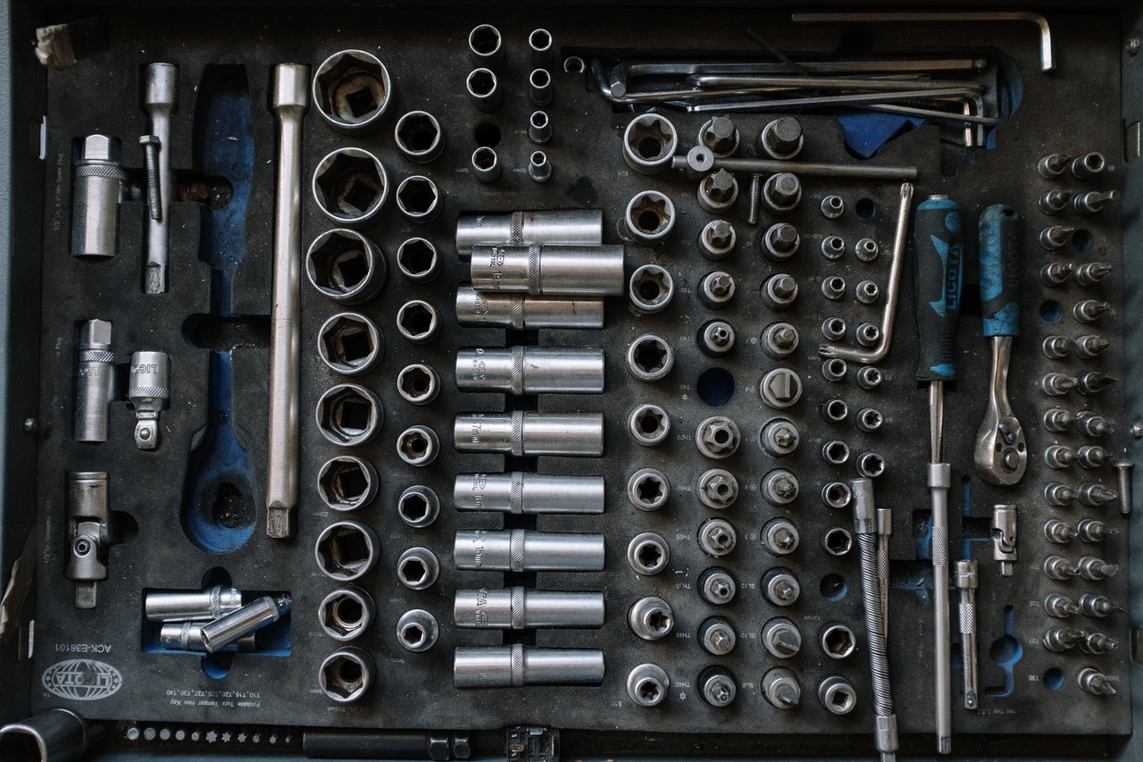 car maintenance tool arranged on a surface
