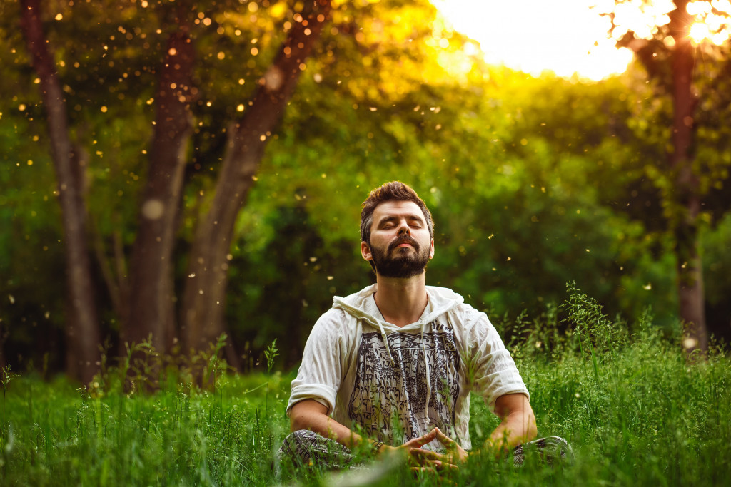 man with nature