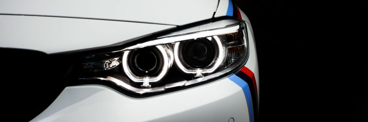 front of white bmw car