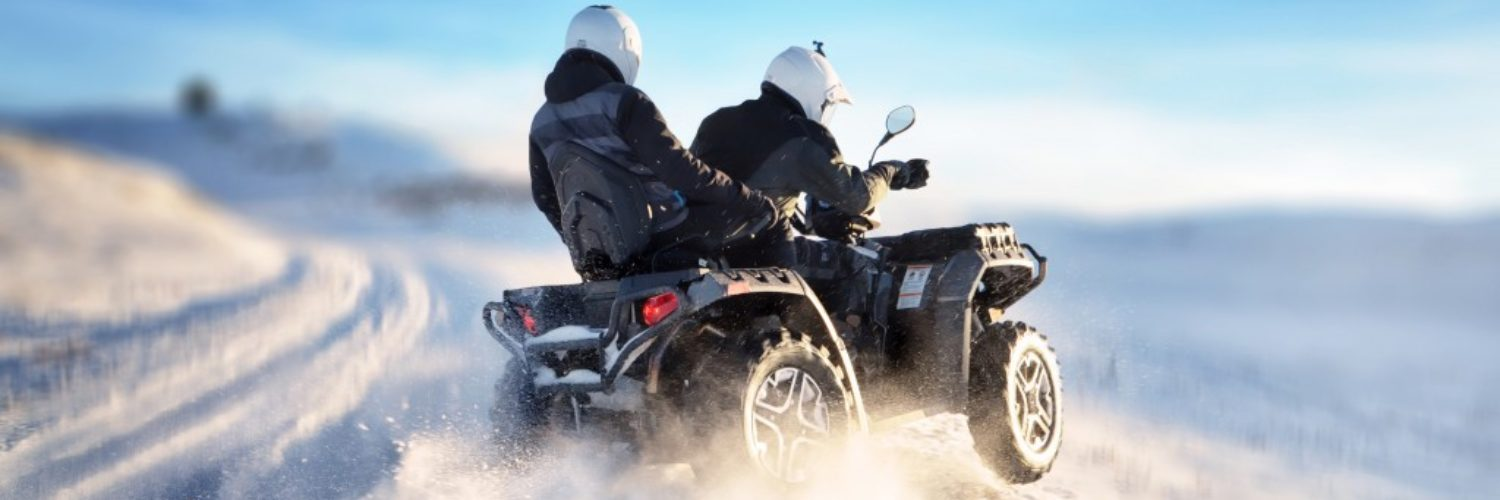 ATV being used in snow