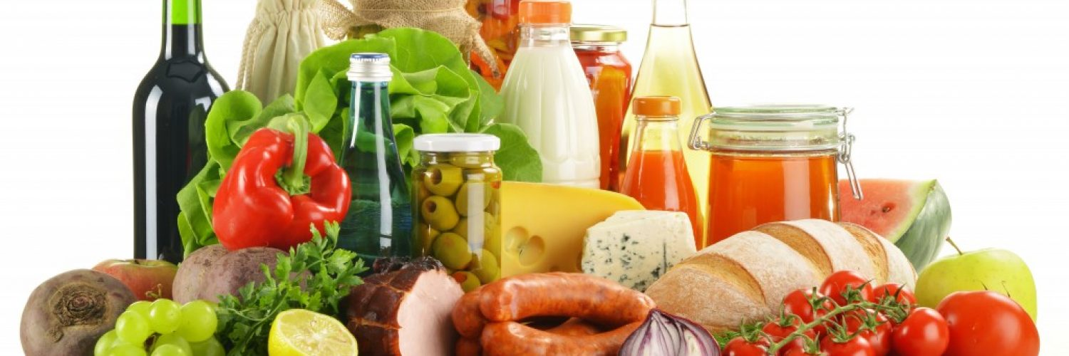 healthy food items together